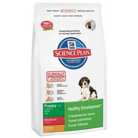 Hills  SP Canine Puppy Healthy Development Medium Chicken- корм для щенков средних пород с Курицей