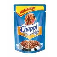 Chappi Чаппи консервированный корм для собак Пауч Мясное изобилие