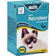 Bozita Mini  Tetra Pak для кошек кусочки в желе с Мясом Оленя