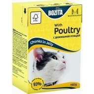 Bozita Mini Tetra Pak для кошек кусочки в желе с Домашней птицей