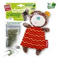 GiGwi  75298 Игрушка для кошек Мишка с кошачей мятой