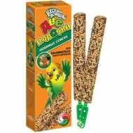 Зоомир Веселый попугай Две палочки для волнистых попугаев Любимые семена 2 палочки