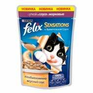 Felix Sensetions Пауч для кошек Утка, морковь в соусе