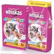 Whiskas Вискас сухой корм котят подушечки молочные индейка/морковь
