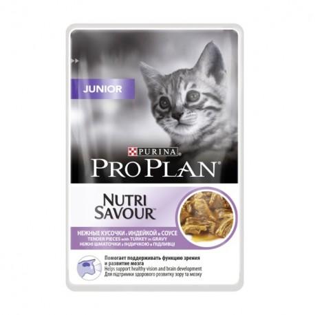 Pro Plan Nutrisavior Junior Пауч для котят Кусочки , с Индейкой