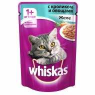 Whiskas - Вискас пауч для кошек Желе с кролик с овощами