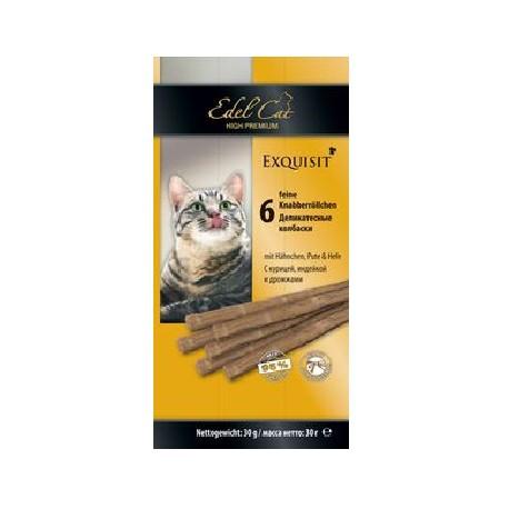 Edel Cat- Эдель Кэт Лакомство для кошек Колбаски курица/индейка дрожжи