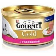 Gourmet Gold консервы для кошек Паштет с говядиной