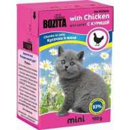Bozita Mini Tetra Recart Бозита Кусочки в желе для Котят с Курицей