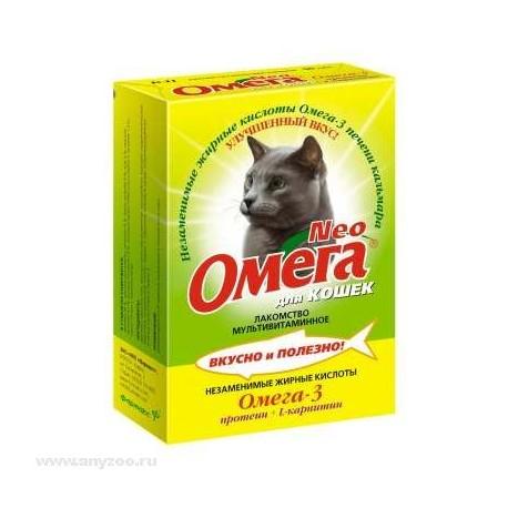 Омега neo лакомство для кошек с протеином и  l-карнитином