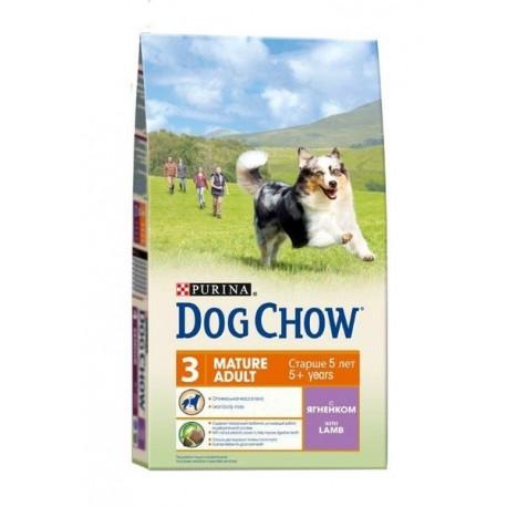 Dog Chow Adult Mature сухой корм для пожилых собак старше 5 лет Ягненок