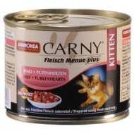 Animonda Carny Fleisch Menue plus Анимонда для котят с говядиной и сердцем индейки