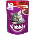 Whiskas - Вискас консервы для кошек пауч рагу с говядиной и ягненком