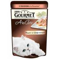 Gourmet A la Carte пауч для кошек Лосось со шпинатом, цукини и зеленой фасолью а-ля Флорентине