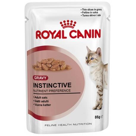 Royal Canin Instinctive - Роял Канин консервы для взрослых кошек кусочки в соусе