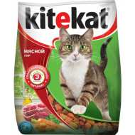 KiteKat - Китикет сухой корм для кошек Мясной пир