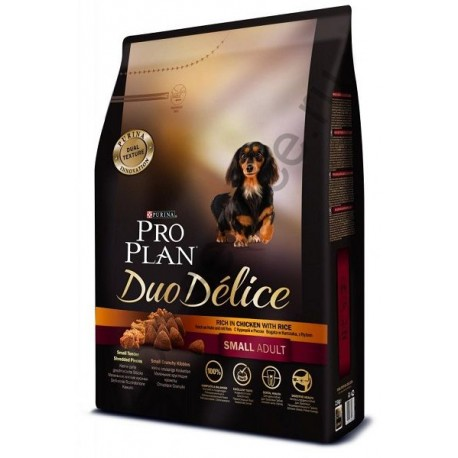 Pro Plan Duo Delice Small Dog сухой корм для взрослых собак мелких пород Курица с Рисом