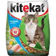 Kitekat  Китикет сухой корм для кошек Улов Рыбака (Рыбное ассорти)
