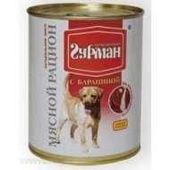 Четвероногий гурман консервы для собак мясной рацион с бараниной