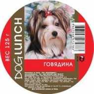 Dog Lunch - дог ланч консервы для собак крем-суфле  Говядина с рубцом, ламистер