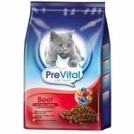 Prevital Beef Сухой корм для взрослых кошек с говядиной и овощами