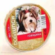 Dog Lunch - дог ланч консервы для собак крем-суфле с говядиной ламистер