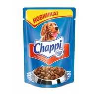 Chappi Чаппи консервированный корм для собак Пауч Говядина по-домашнему