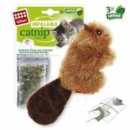 GiGwi 75301 Игрушка для кошек Бобрёнок с кошачей мятой