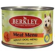 Berkley Meat Adult Dog Menu №4 Беркли конс для собак №4 Ягненок с рисом