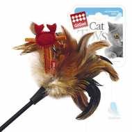 GiGwi Дразнилка для кошек с крабиком, натуральные некрашеные перья