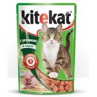 KiteKat - Китикет консервы для кошек пауч (кролик)