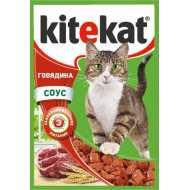 KiteKat - Китикет консервы для кошек пауч (говядина)