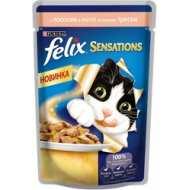 Felix Sensations Пауч для кошек Лосось, треска