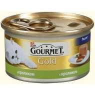 Gourmet Gold консервы для кошек Паштет с кроликом