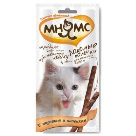 Лакомство Мнямс Лакомые палочки для кошек с индейкой и ягненком 5гр
