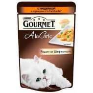 Gourmet A la Carte пауч для кошек Индейка с зеленым горошком и морковью а-ля Рататуй