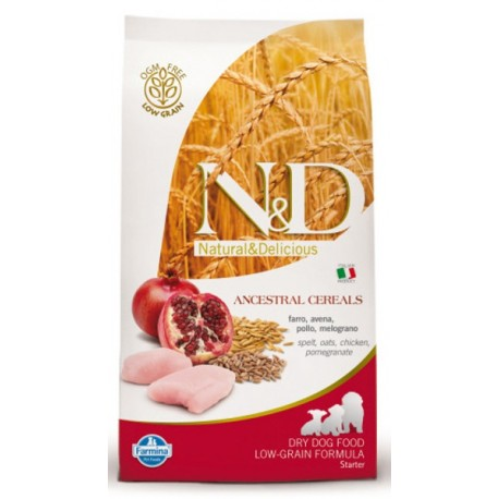 Farmina N&D LG Фармина корм для щенков, беременных и кормящих сук мелких пород КурицаГранат