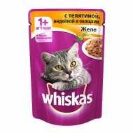 Whiskas - Вискас пауч для кошек Желе с индейка с овощами