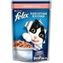 Felix Аппетитные кусочки Пауч для кошек Лосось в желе