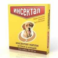 Инсектал капли от клещей и блох для собак от 20 до 40 кг