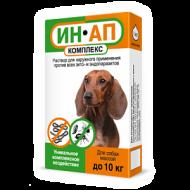 ИН-АП капли от блох, клещей, вшей и гельминтов для собак и щенков до 10кг