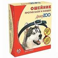 Доктор Zoo БИО ошейник от блох и клещей для собак 65 см СИНИЙ