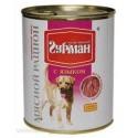Четвероногий гурман  консервы для собак мясной рацион с языком