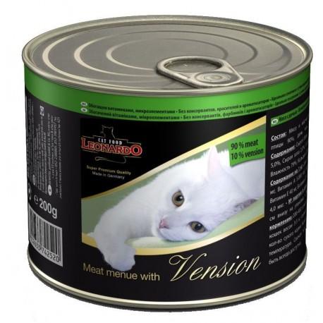 Леонардо консервы для кошек - Отборное мясо с дичью