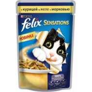 Felix Sensations Пауч для кошек Курица, морковь
