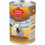 Родные корма Консервы для собак Говядина с овощами по-казацки