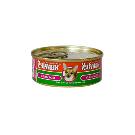 Четвероногий Гурман консервы для собак мясное ассорти с языком