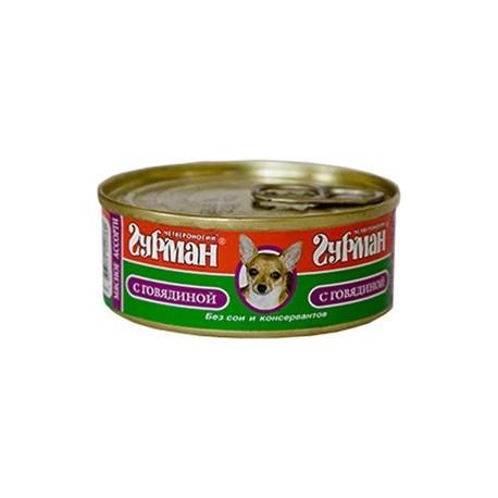 Четвероногий гурман консервы для собак мясное ассорти с говядиной
