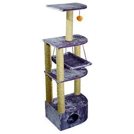 Дарэлл 8204 Домик-когтеточка 4-х уровневый угловой с гамаком, 36*49*170см