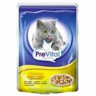 Prevital Classic Консервированный корм для кошек Кусочки в желе с курицей